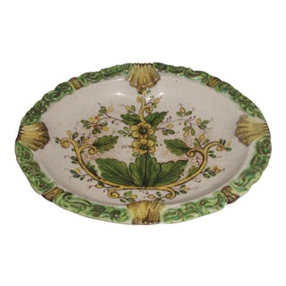 Vintage Italian Hand Painted Bowl/Ashtray For Sale