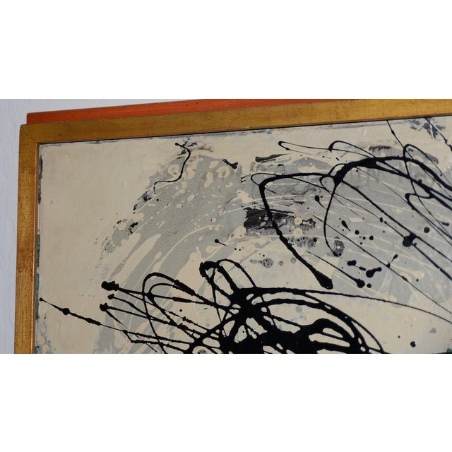 Abstract Abstract Expressionist Oil Painting by Van Winkle C.1950s For Sale - Image 3 of 12