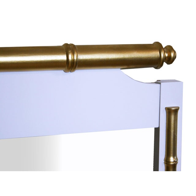 Regency-Style Faux-Bamboo Mirror - Image 4 of 4