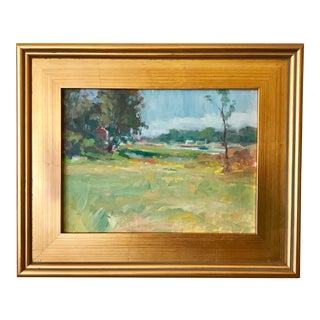 Vintage American Impressionist Landscape by Harry Barton For Sale
