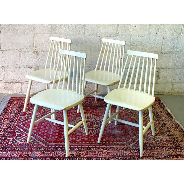 FDB Møbler Mid Century Modern Spindle Back Dining Chairs - Set of 4 For Sale - Image 4 of 9
