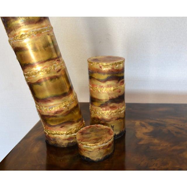 Scupltural Studio Brass Table Desk For Sale In Miami - Image 6 of 13
