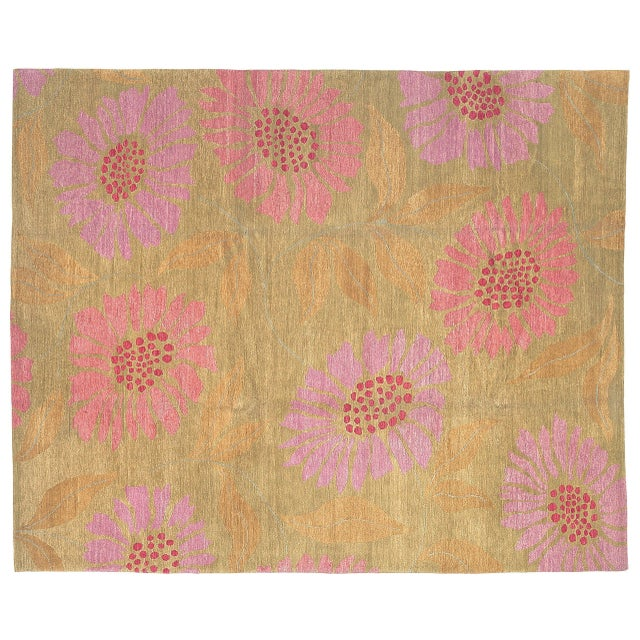 Contemporary Flower Power Pixie, 9 x 10 Rug For Sale - Image 3 of 3