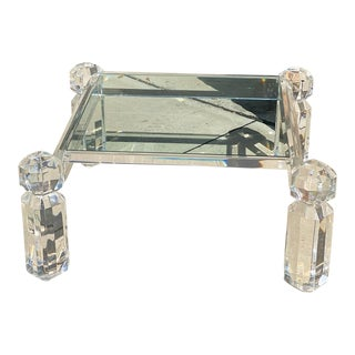 1980s Postmodern Lucite Coffee Table For Sale