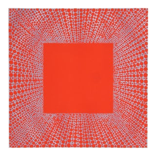 """Richard Anuszkiewicz, """"Summer Suite"""" (Blue on Red), Op Art Etching For Sale"""