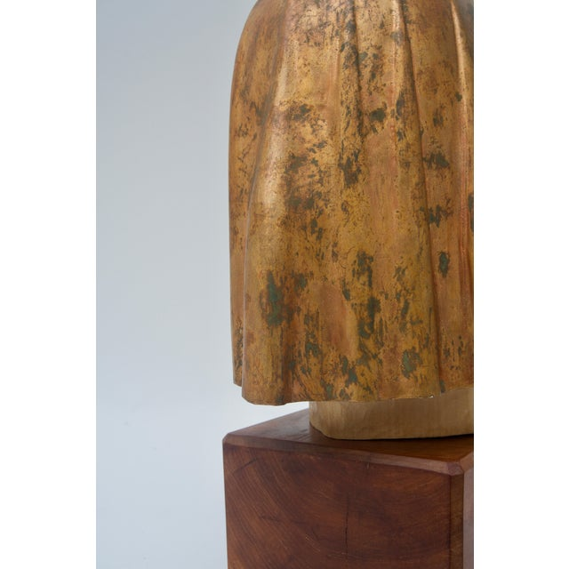 "Giltwood Sculpture Titled ""Shade Mask"" by Mark Jordan 1980 For Sale In West Palm - Image 6 of 11"