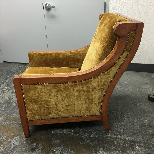 Traditional Dessin Fournier Arm Chair For Sale - Image 3 of 9