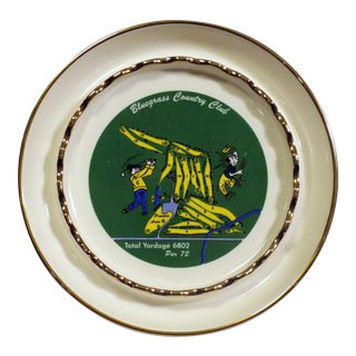 1960s Vintage Bluegrass Country Club Golf Ashtray For Sale
