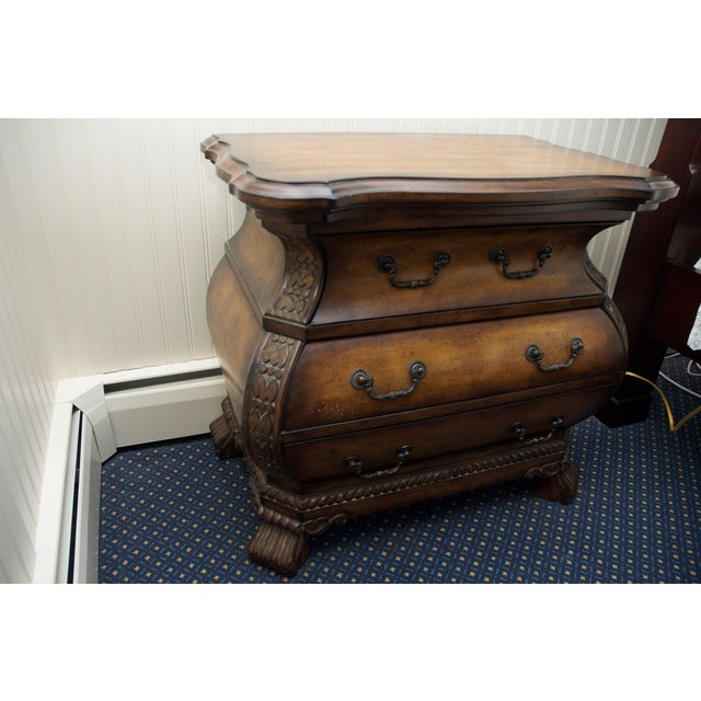 French Horchow Bombe Chest Nightstands- A Pair For Sale - Image 3 of 7
