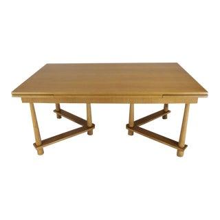Robsjohn-Gibbings for Widdicomb Refectory Walnut Dining Table Tapered Legs For Sale