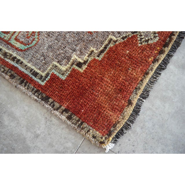 """Dimensions: 18.5"""" x 42.9"""" Excluding Fringe Material : Wool on cotton. Age: About 40-50 years old Weight: ~ 2.4lbs"""