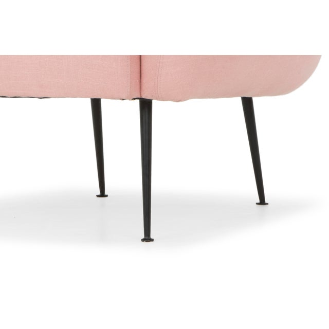 2010s Rosa Pink Sepli Accent Chair For Sale - Image 5 of 6