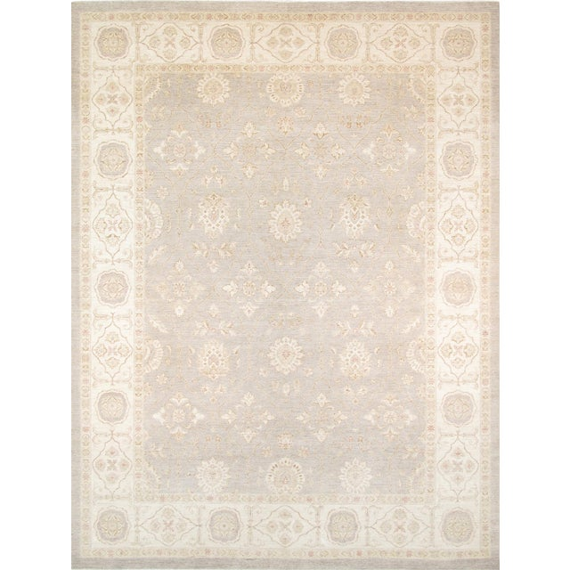 """Pasargad Ferehan Wool Area Rug - 9'10"""" X 13' 8"""" For Sale"""