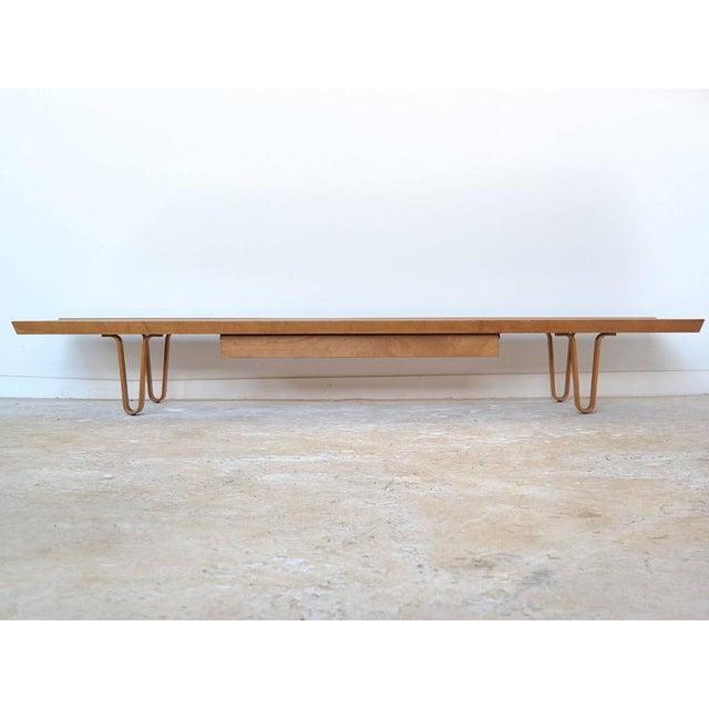 Edward Wormley Long John Bench/ Table by Dunbar - Image 6 of 9