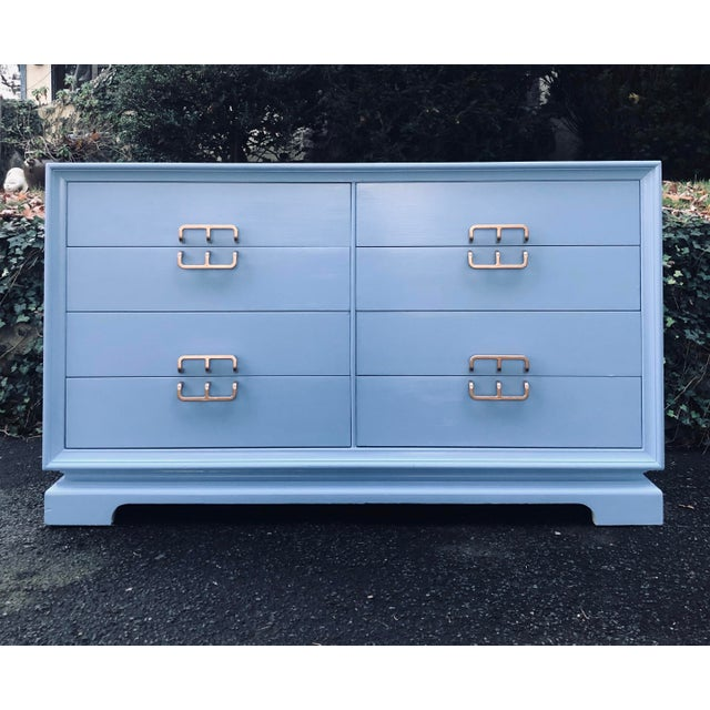 1950's Mid Century Drexel 8 Drawer Dresser For Sale - Image 9 of 9
