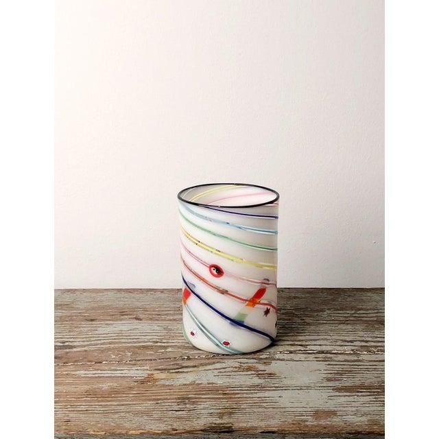 1970s Vintage Italian Murano Tumbler Vase For Sale In San Francisco - Image 6 of 6