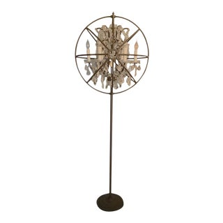 Restoration Hardware Foucault's Orb Clear Crystal Floor Lamp For Sale