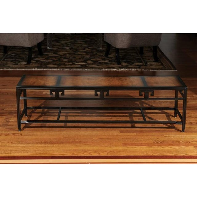 """Mid-Century Modern Elegant Burl Inlay Coffee Table, """"Far East"""" Collection by Baker For Sale - Image 3 of 11"""