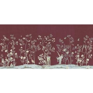 """Casa Cosima Claret Brighton Wallpaper Mural - 5 Panels 180"""" W X 96"""" H For Sale"""