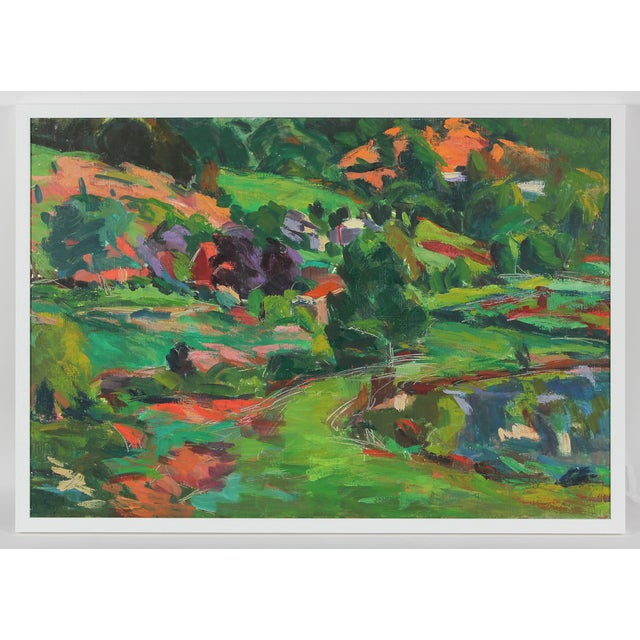 Lush Springtime Landscape Painting - Image 2 of 3