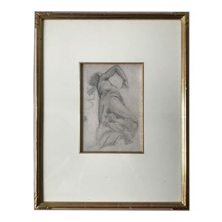 1880s Paul Albert Besnard Pencil Drawing of a Woman For Sale