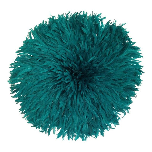 Authentic Cameroon Juju Hat - Teal For Sale
