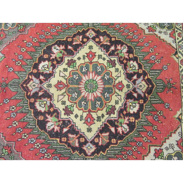 "1970's Vintage Hand Knotted Wool Turkish Runner-5'2'x13'5"" For Sale In Atlanta - Image 6 of 9"