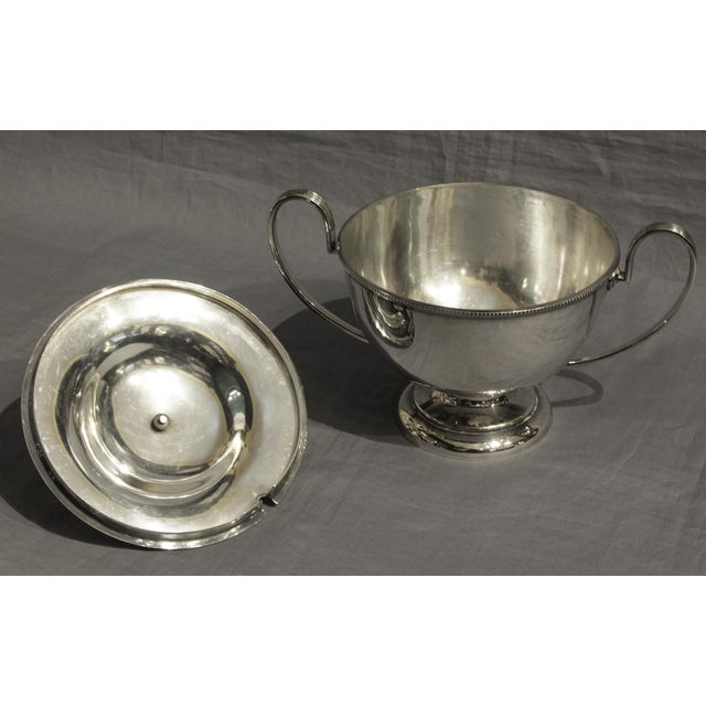 Goldsmiths & Silversmiths LTD Silver English Soup Tureen For Sale - Image 4 of 8