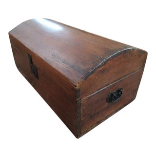 Small Antique Child's Blanket Chest Trunk For Sale