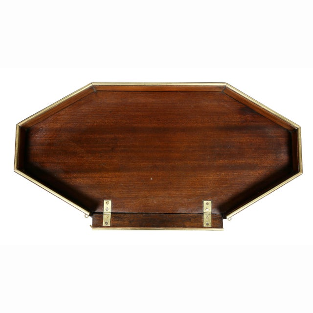 Traditional Directoire Mahogany and Brass Mounted Table For Sale - Image 3 of 13