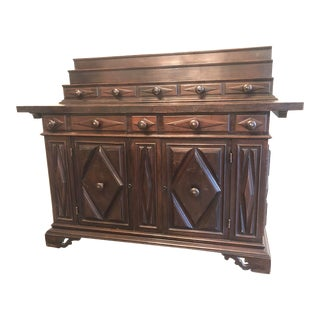 1920s Antique Spanish-Style Sideboard For Sale