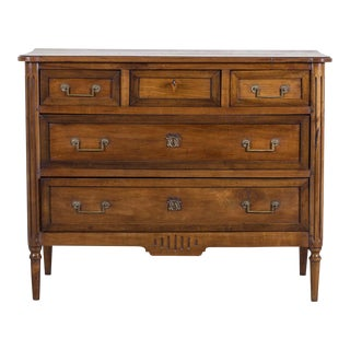 Antique French Louis XVI Walnut Chest of Drawers circa 1790