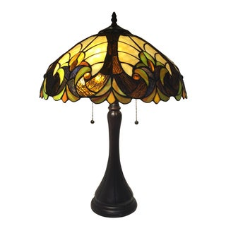 Tiffany Inspired Stained Glass Lamp For Sale