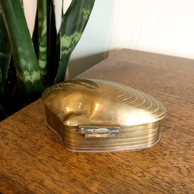 Brass Shell Trinket Box For Sale - Image 4 of 5