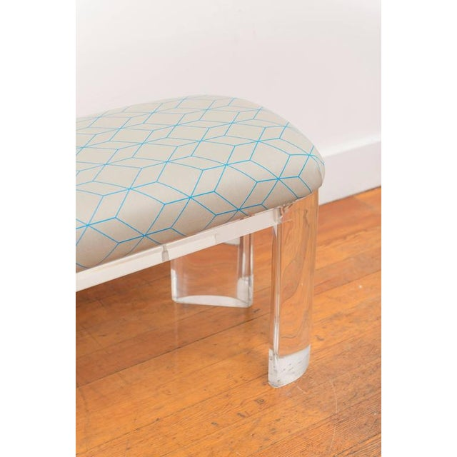 Karl Springer Style Lucite Bench - Image 3 of 8
