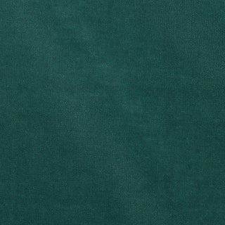 Schumacher Rocky Performance Velvet Fabric in Teal For Sale