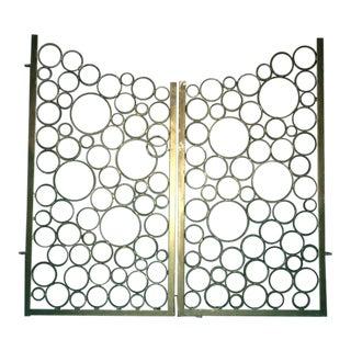 Mid-Century Modern Wrought Iron Gates - a Pair