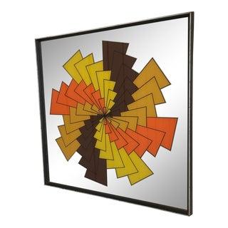 1970s Retro Op Art Mirror For Sale