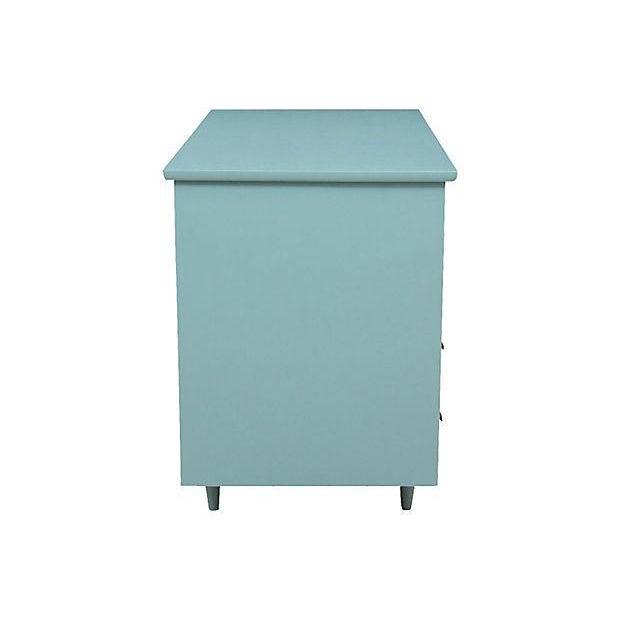 Mid-Century Pale Blue Desk - Image 6 of 7