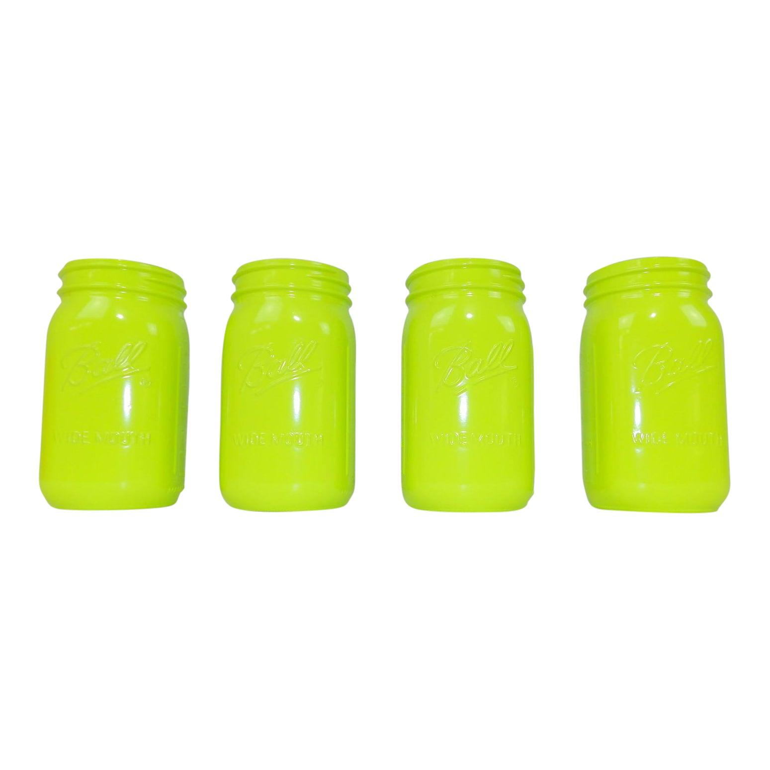 Vintage Lime Green Ball Mason Jars - Wedding Decor   Chairish