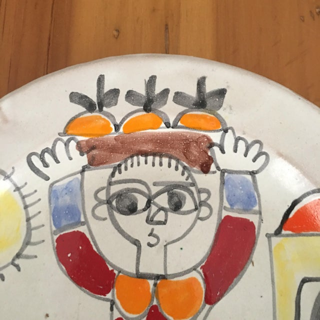 """DeSimone Italian Vintage Mid-Century 10"""" Charger Plate For Sale - Image 5 of 8"""