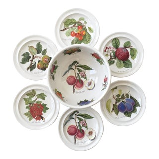 Portmeirion Pomona No Border Salad Bowl and Plates - Set of 7 For Sale