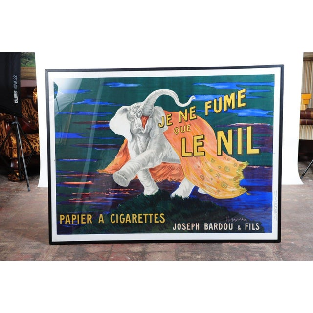 French Je Ne Fume Que Le Nil-Original 20s Elephant Poster For Sale - Image 3 of 10