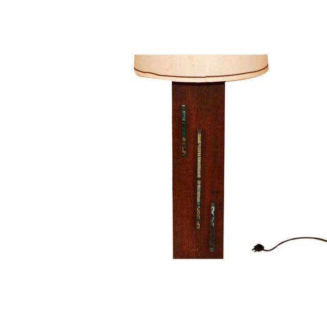 Wood Harris Strong Mid Century Wood Tile Lamp For Sale - Image 7 of 10