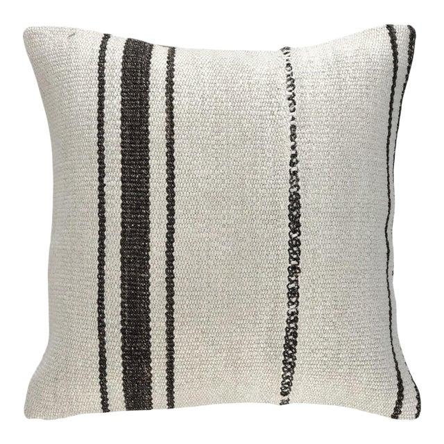 "Organic Hemp Kilim Pillow | 16"" For Sale"