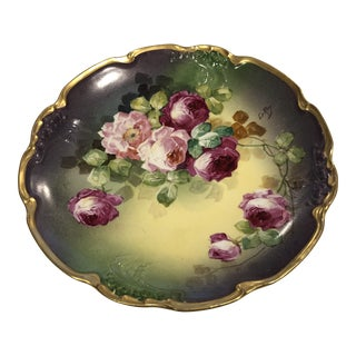 Limoges Decorative Floral Plate For Sale