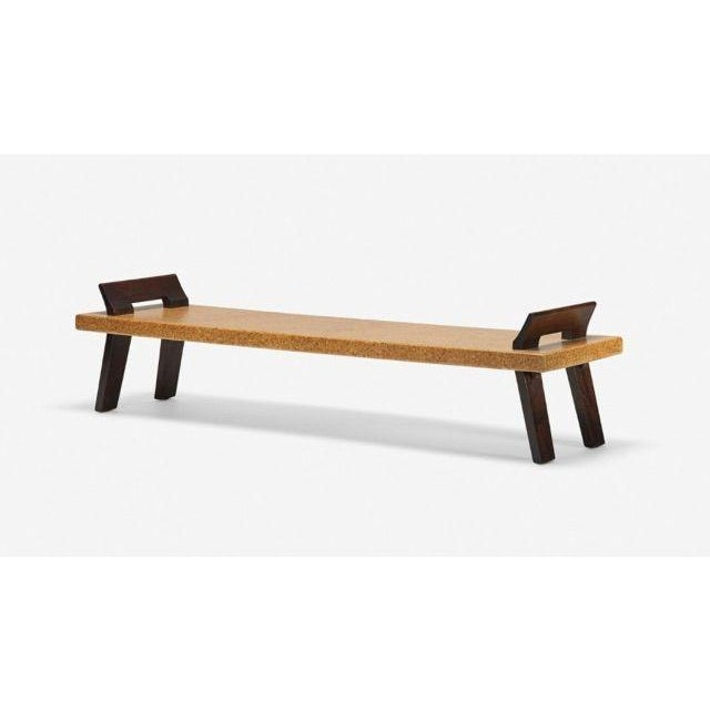 Art Deco PAUL FRANKL Bench, Johnson Furniture Company ca. 1950 For Sale - Image 3 of 3