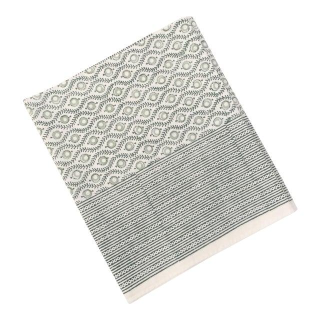 European Handmade Block Print Tablecloth - Image 1 of 7