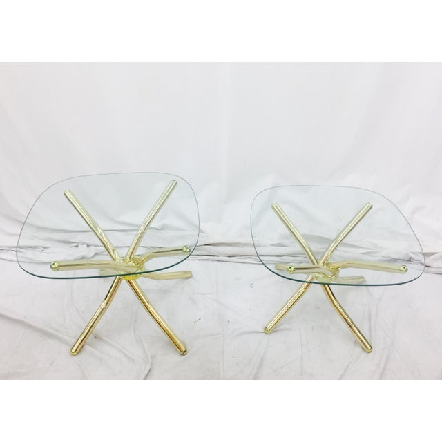 Gold Knot Side Tables - A Pair - Image 4 of 8
