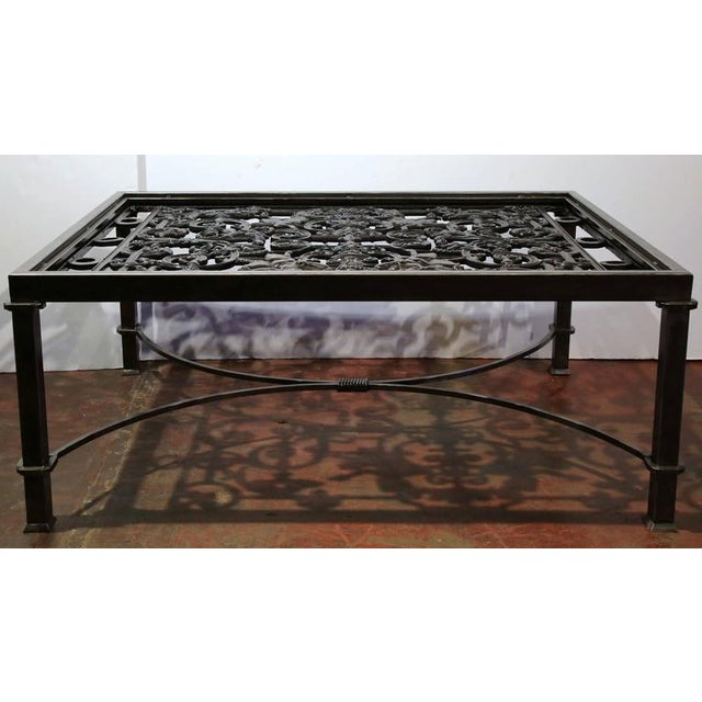Iron Polished Iron Coffee Table Base For Sale - Image 7 of 10